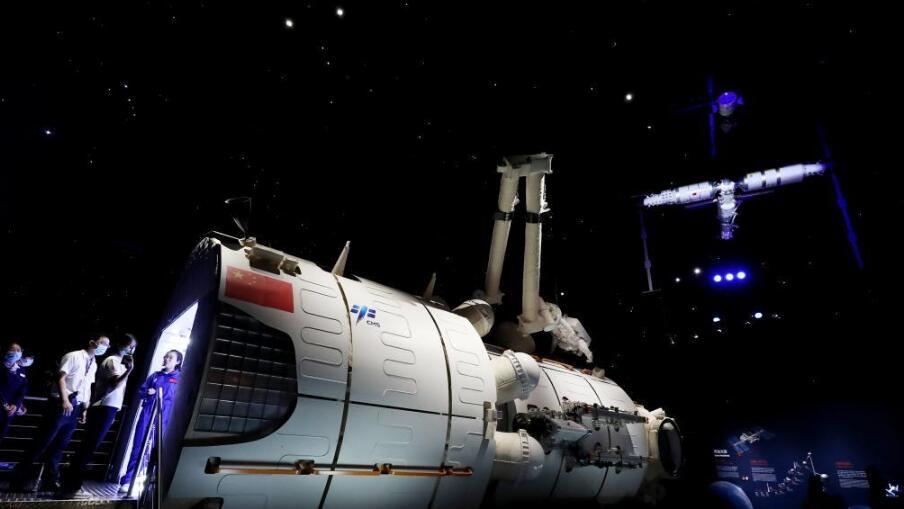 天和号核心舱等比例模型