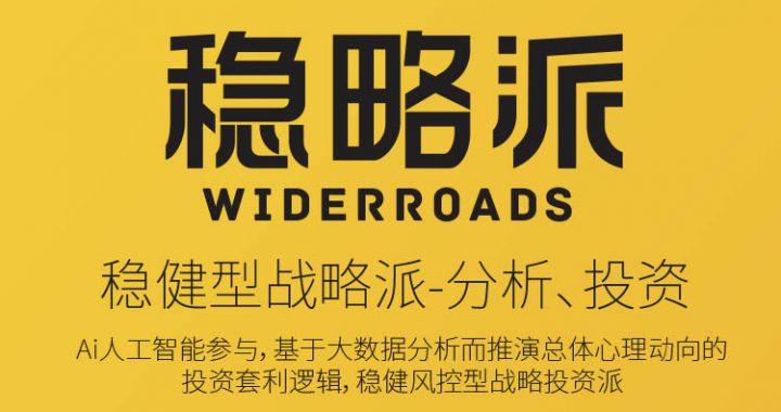 稳略派WiderRoads量化、指数化投资领域稳健风控战略派